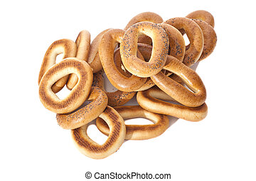Bagels isolated on a white background
