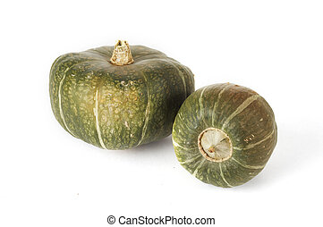 Stock Photo of Buttercup Squash - Two buttercup squashes sit...