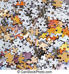 Background of Jigsaw Puzzle Pieces
