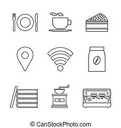 coffee icon - americano, barista, beans, beverage, book,...