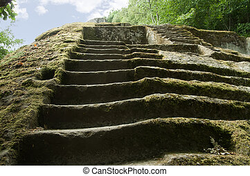 etruscan pyramid - ancient etruscan pyramid in the Italian...