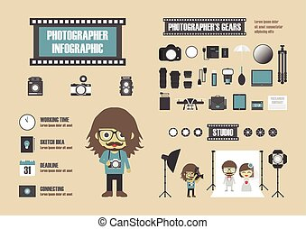 126.photographer infographic.eps - photographer infographic,...