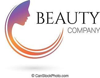 Beauty company logo. Vector - Logo for beauty salon, company...