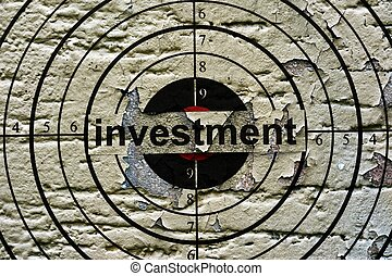 Investment target grunge concept