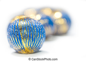 Blue balls - Line of blue balls isolated on white