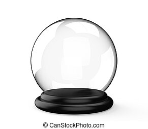 Magic crystal ball on white background