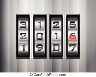 combination lock 2016 - Metallic combination lock 2016....