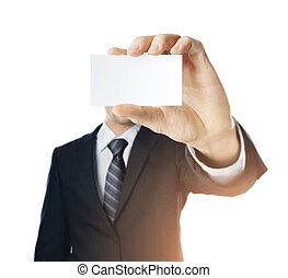 visiting card - high resolution hand holding visiting card