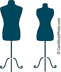 Mannequins - Vintage tailor s mannequin for female and male...