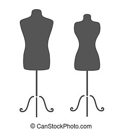 Mannequins - Vintage tailor's mannequin for female and male...