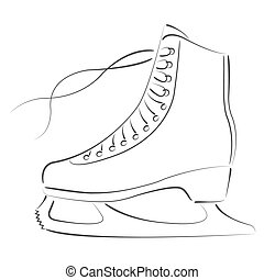 Sketched ice skates - Elegant sketched ice skates Design...