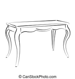 Sketched table Design template for label, banner or postcard...