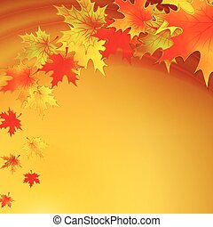 Autumn background with leaves. Vector nature background.