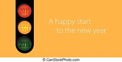 New Year wishes to the traffic light motif for companies in...