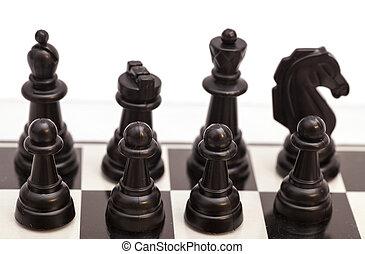 ajedrez, en, el, chessboard, ,