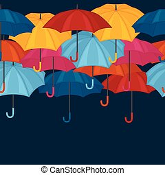 Seamless pattern with colored umbrellas for background design