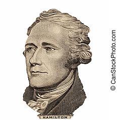 總統,  U,  s, 亞歷山大,  Hamilton, 肖像