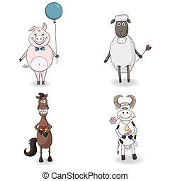 Cute Farm Animals - Four Cute Farm Animals. Congratulations.