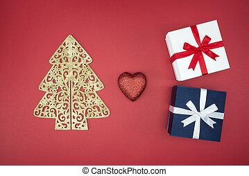 Love Christmas enjoy sale and shopping boxing day on red...