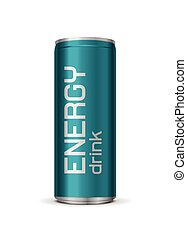 Vector bright energy drink can