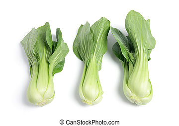Bok Choy on White Background