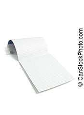 Writing Pad on White Background