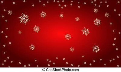 Advent wreath with white poinsettia - Animation of...