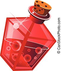 potion - magic drink in a bottle on white background