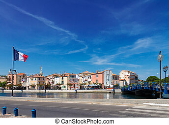 old harbor with boats Martigues, Provence, France - old...