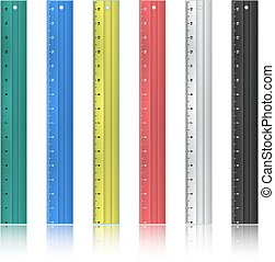 Colorful rulers - Illustration of rulers in various colors...