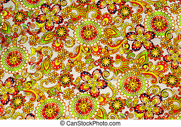 Fabric flowers red green photo studio