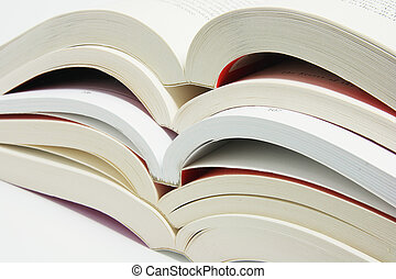 Stack of Open Books