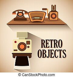 Retro objects vintage design