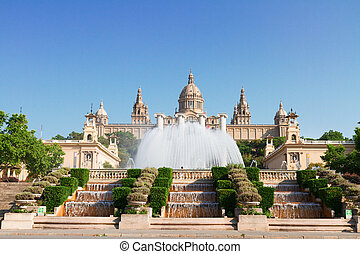 Square of Spain, Barcelona - Square of Spain - National...