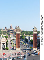 Square of Spain, Barcelona - Square of Spain - venetian...