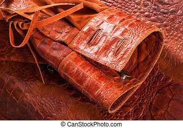 crocodile Skin Artistic leather crocodile