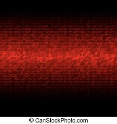 Abstract tech binary background - Abstract tech binary red...
