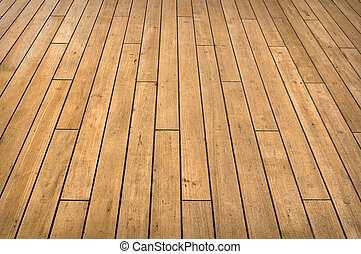 Ship Deck - Full Frame view of a cruise ship deck used for...