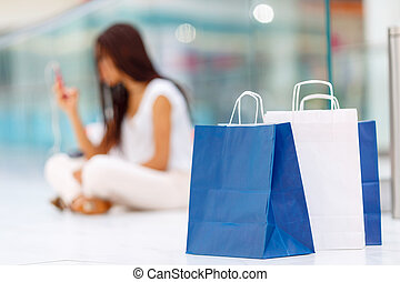 Pleasant girl making shopping - Fashion in my mindSelective...