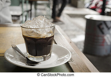 espresso shot with ice