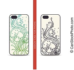 Design Case for Phone Abstract Mushroom Four - Design covers...