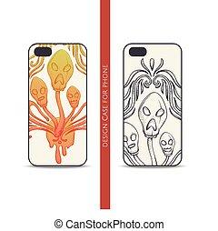 Design Case for Phone Abstract Mushroom Three - Design...