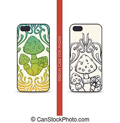 Design Case for Phone Abstract Mushroom One - Design covers...