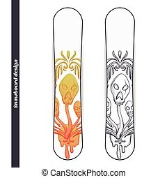 Snowboard Design Abstract Mushroom Three - Design snowboard...