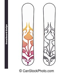 Snowboard Design Abstract Mushroom Five - Design snowboard...