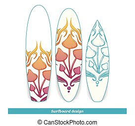 Surfboard Design Abstract Mushroom Four