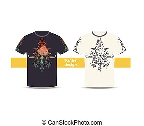 Tshirt Design Abstract Mushroom Three - Design tshirt with a...