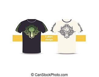 Tshirt Design Abstract Mushroom - Design tshirt with a color...