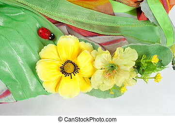 Texture fabric green yellow red Ball Gown Photography Studio...
