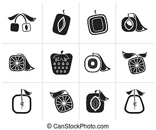 Abstract square fruit icons